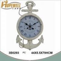 antique white metal wall clock , FuJian art deco wall clock manufacturer
