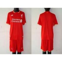 Quality 15-16 Liverpool Customized Home Soccer Jersey & Short for sale