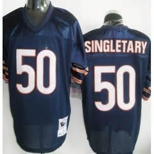 China Chicago Bears No.50 Mike Singletary Throwback Blue Jersey