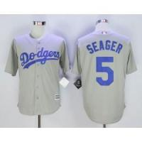 Quality Los Angeles Dodgers No.5 Corey Seager Grey Jersey for sale