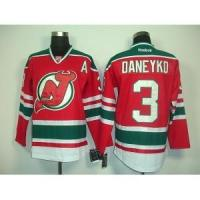 Quality New Jersey Devils No.3 Ken Daneyko Third Red Jersey for sale