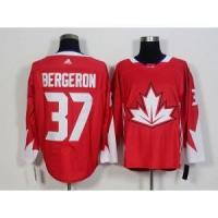 Quality 2016 World Cup Team Canada No.37 Patrice Bergeron Red Jersey for sale