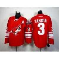 Buy cheap Phoenix Coyotes No.3 Keith Yandle Red Jersey from wholesalers