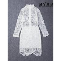 China Hot Selling Long Sleeve White Lace Dress on sale