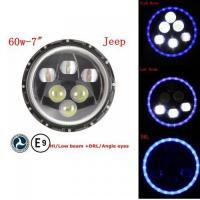 Buy cheap 60W Pi67 Hi/Low Beam CREE Headlight with ECE, E-MARK Approved from wholesalers