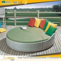 Buy cheap Cheapest price garden round daybed used outdoor furniture wicker rattan pool sunbed from wholesalers