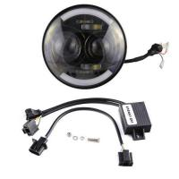 Buy cheap 80W 7CREE Angle Eye LED Headlight for Jeep Wrangler from wholesalers