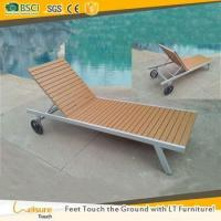Buy cheap Good quality teak wood outdoor furniture hotel lounger furniture sun lounge with wheel from wholesalers