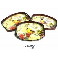 Buy cheap bamboo utensils WOODEN TRAY 216H245P3A S-3 from wholesalers
