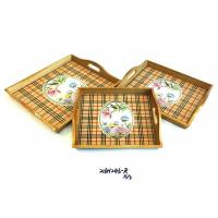 Buy cheap bamboo utensils WOODEN TRAY 216H243-R S-3 from wholesalers