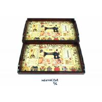 Buy cheap bamboo utensils WOODEN TRAY MDF +PAPER from wholesalers
