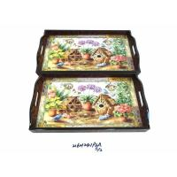 Buy cheap bamboo utensils WOODEN TRAY 216H241P3A S-2 from wholesalers