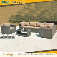 Buy cheap Foshan woven furniture manufacturer leisure ways patio sofa cane furniture garden corner sofa from wholesalers