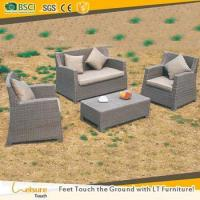 Buy cheap High quality brown color flat rattan garden sofa used outdoor leisure patio rattan sofa set from wholesalers