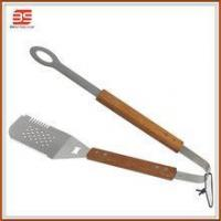 Quality 2 in 1 spatular with tong in high quanlity and bbq fish turner for sale
