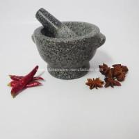 Quality 3 Inches Tall Granite Mortar and Pestle for sale