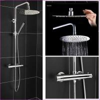 Quality Round Head Riser Thermostatic Shower System for sale