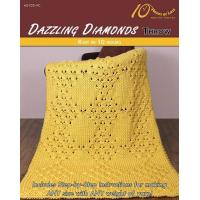 Quality KNITTING PATTERNS DAZZLING DIAMONDS Throw for sale