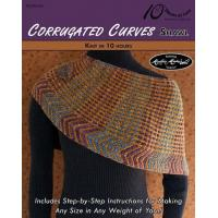 Quality KNITTING PATTERNS CORRUGATED CURVES Shawl for sale
