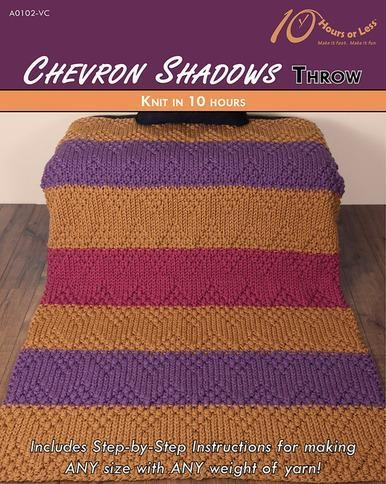 Buy KNITTING PATTERNS CHEVRON SHADOWS Throw at wholesale prices
