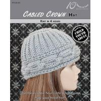 Quality KNITTING PATTERNS CABLED CROWN Child, Youth & Adult Hat for sale