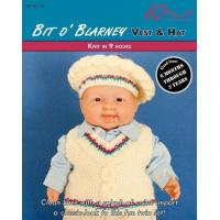 Quality KNITTING PATTERNS BIT O' BLARNEY Baby Vest & Hat for sale