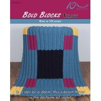 Quality KNITTING PATTERNS BOLD BLOCKS Throw for sale
