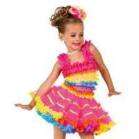 Buy cheap adorable tutu dress/ multiple layers of lace ruffles /colorful performance costume/ from wholesalers