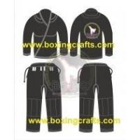 Quality BJJ GI black BJJ PEARL WEAVE GI for sale