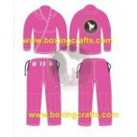 Quality BJJ GI PINK BJJ GOLD WEAVE UNIFORM for sale
