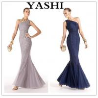 Buy cheap Hot Sale Brand Name Floor Length One-Shoulder Mermaid Appliqued Evening Gown (LH0033) from wholesalers