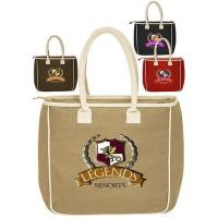 Buy Two-Tone Jute Tote Bags at wholesale prices