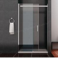 China Incredible Clean Line Design Framless Sliding Shower Door Solid Square Stainless Hanlde on sale