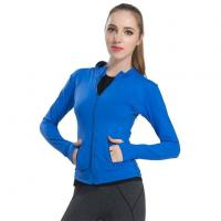 Quality New Style Show Thin Sport Quick-drying Zip Jackets Ms High Elastic Pure Color Yoga Long Sleeves Coat for sale