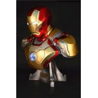 China Scale Model Kits Gmasking Iron Man MK42 Bust Bank Statue Collectibles 1:1 Replica on sale