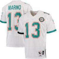 China Mitchell & Ness Dan Marino Miami Dolphins White 1990 Authentic Throwback Jersey on sale