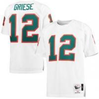 China Mitchell & Ness Bob Griese Miami Dolphins White 1972 Throwback Authentic Jersey on sale