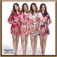 China In stock silk floral bridesmaid kimono robe for wholesale on sale