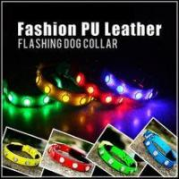 Quality LED Luminous High Quality Wholesale Leather Dog Collar for sale