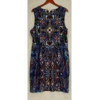 Quality Charter Club Plus Size Dress 3X Printed Sleeveless Blue NEW for sale