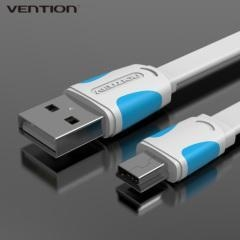 Buy Vention Wholesale Flat USB 2.0 MINI USB Cable at wholesale prices