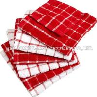 Quality 100%cotton classic grid terry towel tea towel set for sale