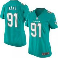 China Nike Cameron Wake Miami Dolphins Women's Aqua Game Jersey on sale