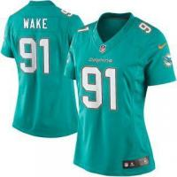 Quality Nike Cameron Wake Miami Dolphins Women's Aqua Limited Jersey for sale