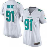 China Nike Cameron Wake Miami Dolphins Women's Aqua Game Jersey - on sale
