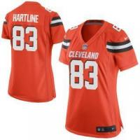 Quality Nike Brian Hartline Cleveland Browns Women's Orange Game Jersey for sale