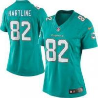 Quality Nike Brian Hartline Miami Dolphins Women's Aqua Limited Jersey for sale