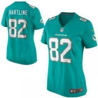 China Nike Brian Hartline Miami Dolphins Women's Aqua Game Jersey on sale