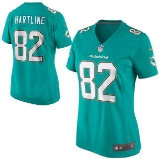 Buy Nike Brian Hartline Miami Dolphins Women's Aqua Game Jersey at wholesale prices