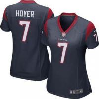 Quality Nike Brian Hoyer Houston Texans Women's Navy Game Jersey for sale